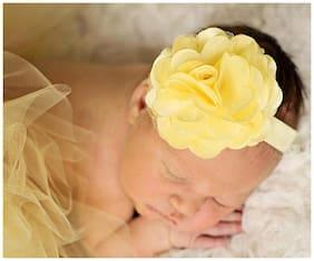 AkinosKIDS Yellow Elastic Rosset Headband