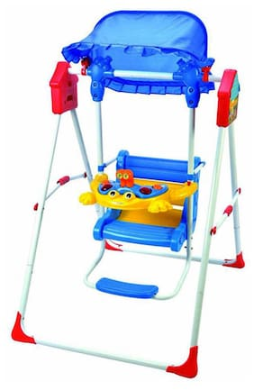 Bajaj Baby Products Blue Metal And Pvc Swing
