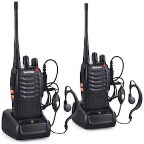 Baofeng BF-888S UHF 400-470MHz CTCSS/DCS with Earpiece Handhald Amateur Radio Two Way Longe Range Walkie Talkie;2 Pack