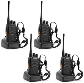 Baofeng BF-888S UHF 400-470MHz CTCSS/DCS with Earpiece Handhald Amateur Radio Two Way Longe Range Walkie Talkie;4 Pack