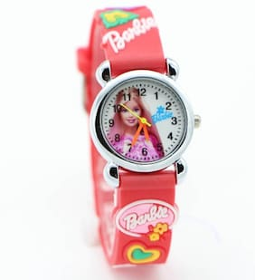 Barbie Caracter Red Dial Analog Boys & Girls Watches Barbie Doll Collcetion Kids Watches Watch - For Boys & Girls