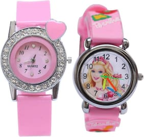 Barbie Caracter Pink Dial Analog Boys & Girls Watches Barbie Doll Collcetion Kids Watches Watch - For Boys & Girls