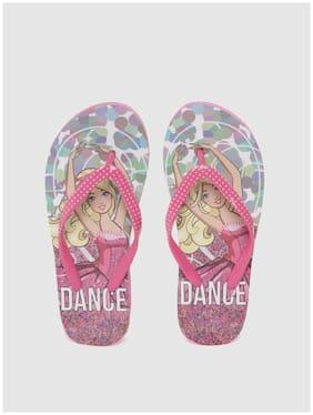 Barbie Pink Girls Slippers