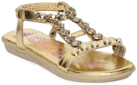 Barbie Gold Girls Sandals