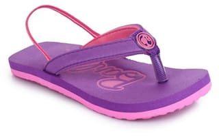 67a00052e1c5 Buy BARBIE KIDS GIRLS PINK PURPLE FLIP-FLOP Online at Low Prices in ...