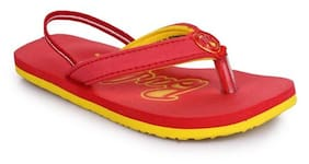 4188ddf9b551 BARBIE KIDS GIRLS RED YELLOW FLIP-FLOP