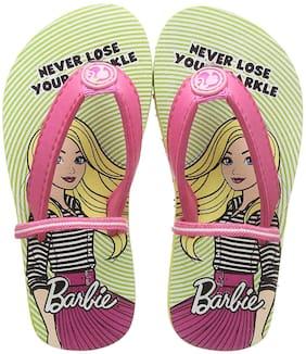 Barbie Green Girls Slippers