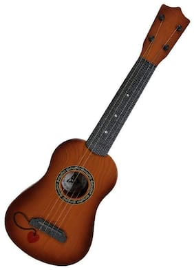"Barodian's 18"" inch Guitar Toys for Kids Fully Functional 4 String Classical Wooden Big Size Guitar Toy/ Musical Acoustic Guitar with Adjustable Tunning Knob/ Guitar Instrument Play Set for Kids"