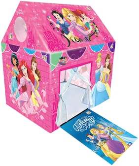Barodian's Disney Princess Play Tent House for Kids of Age 3 to 8 Years in Handle Box Packing in Multi Color