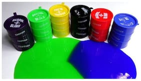 Barrel O Slime Putty;Play Fun For All Ages Gifting Colourful Kids Toys Puzzle  (set of 6 pcs