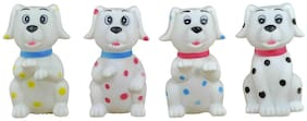 Bath Time Squeeze Toys for Babies  (Doggy) Set of 4 Pcs Size : 8 x 5 cm each