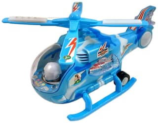 Battery Operated Helicopter with Flashing Light and Music