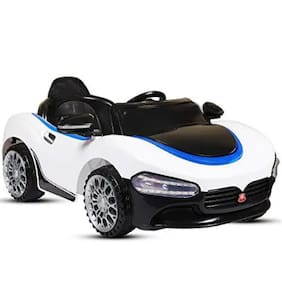 Battery Operated LED Light FARARI Car WHITE Color With Remote Control And Mobile Music Connectivity