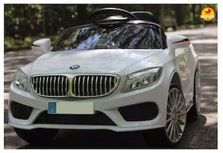 Baybee BMW 5 Series Battery Operated Car with R/C (White)
