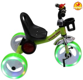Baybee Trident Tricycle With Music And Sparkling Led Lights On Wheels (green)