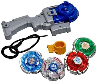 BBS DEAL 3in1/4D/5D Beyblade Metal;Set with Handle Launcher Fighters (Multicolors)