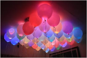 BBS DEAL  ( Pack of-25 Pc) LED Balloons for Party Festival Celebrations
