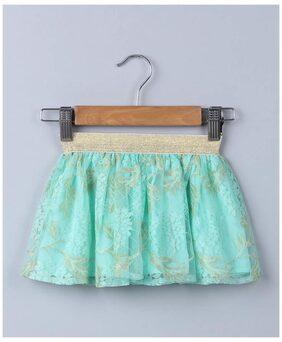 Beebay Baby Girl Cotton Printed Skirt - Blue