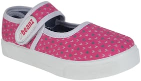 Beanz Pink Casual Shoes For Girls