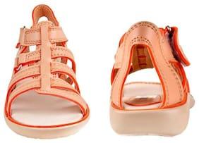 Beanz Beige Sandals For Girls
