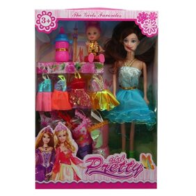 Beautiful doll with multiple dresses