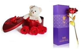 ZUKUNFT FASHION Red Teddy Bear - 12 cm