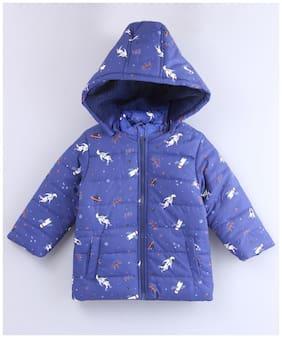 Beebay Baby boy Polyester Printed Winter jacket - Blue