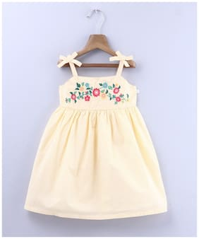 Beebay Baby girl Cotton Embellished Princess frock - Yellow