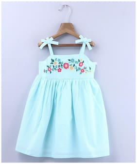 Beebay Baby girl Cotton Embellished Princess frock - Green
