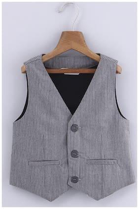Beebay Baby boy Cotton Solid Ethnic jacket - Grey