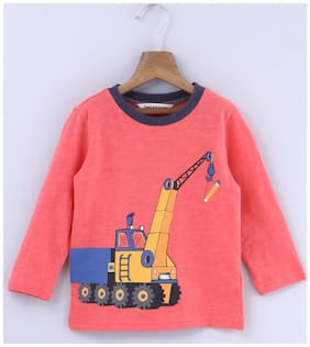 Beebay Cotton Printed T shirt for Baby Boy - Orange
