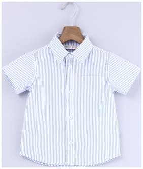 Beebay Cotton Striped Shirt for Baby Boy - White
