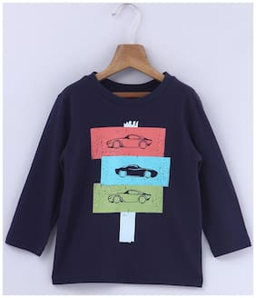 Beebay Cotton Printed T shirt for Baby Boy - Blue