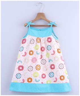 Beebay Baby girl Cotton Printed Princess frock - Multi