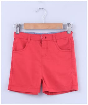 Beebay Boy Solid Shorts & 3/4ths - Red