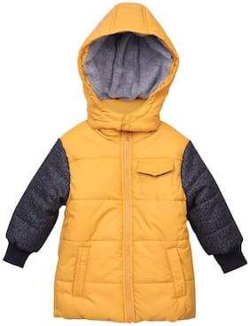Beebay Boy Polyester Solid Winter jacket - Yellow