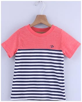 Beebay Cotton Solid T shirt for Baby Boy - Multi