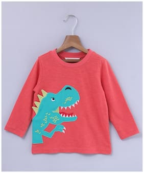 Beebay Cotton Printed T shirt for Baby Boy - Pink