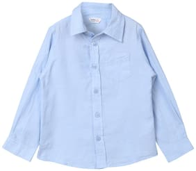 Beebay Cotton Solid T shirt for Baby Boy - Blue