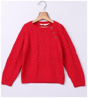 Beebay Boy Cotton Solid Sweater - Red