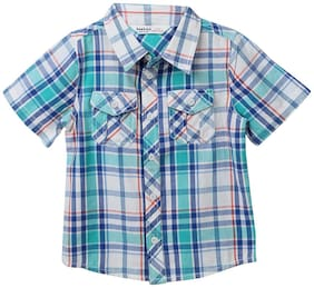 Beebay Boy Cotton Checked Shirt Grey