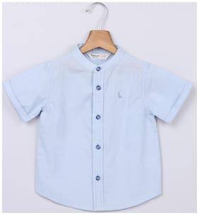 Beebay Girl Cotton Solid Shirt - Blue