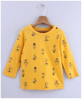 Beebay Cotton Printed T shirt for Baby Boy - Yellow