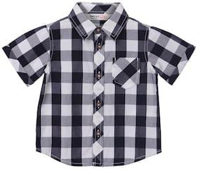 Beebay Boy Cotton Solid Shirt Black
