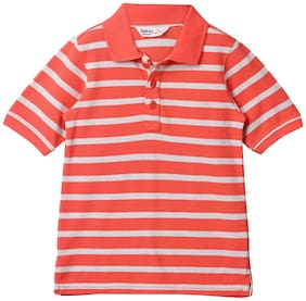 Beebay Boy Knitted Striped T-shirt - Red