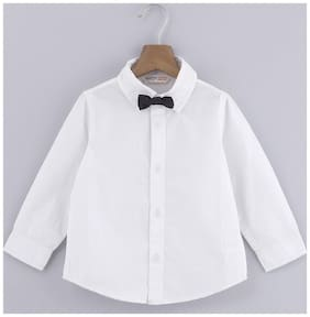 Beebay Boy Cotton Solid Shirt White
