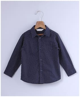 Beebay Boy Cotton Printed Shirt Blue