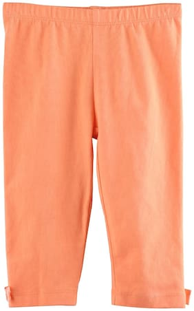 Orange Ankle Length Leggings