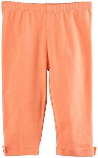 Beebay Cotton Solid Leggings - Orange