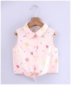 Beebay Girl Cotton Printed Top - Pink